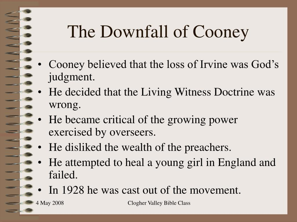 The Downfall of Cooney