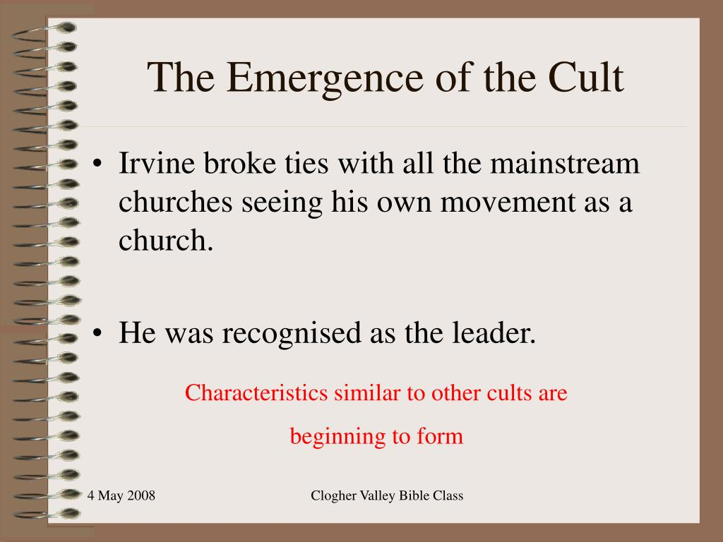 The Emergence of the Cult