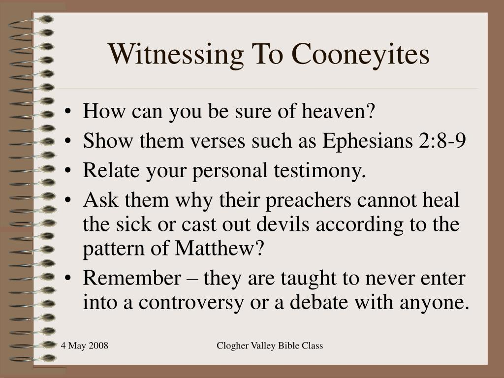 Witnessing To Cooneyites