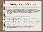 adding internal citations