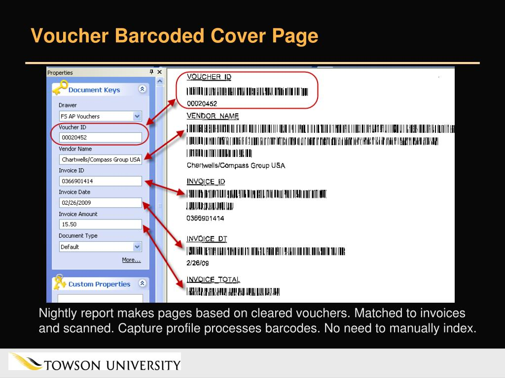 Voucher Barcoded Cover Page