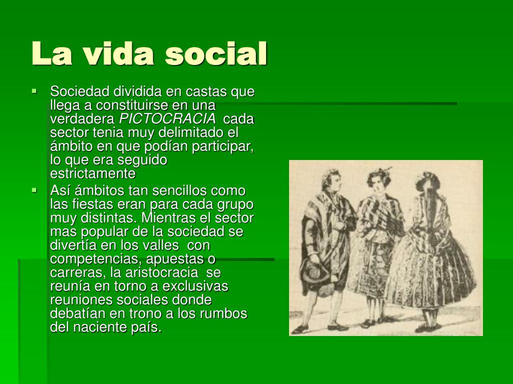La vida social