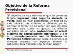 objetivo de la reforma previsional