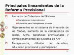 principales lineamientos de la reforma previsional10