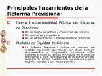 principales lineamientos de la reforma previsional9