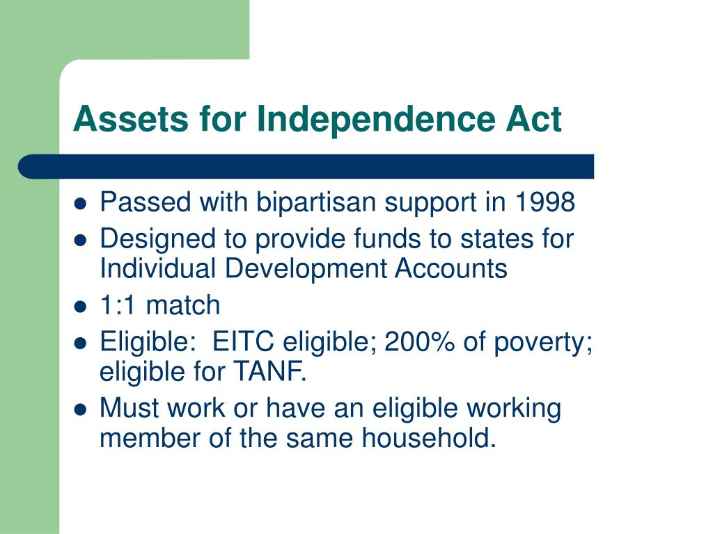 Assets for Independence Act