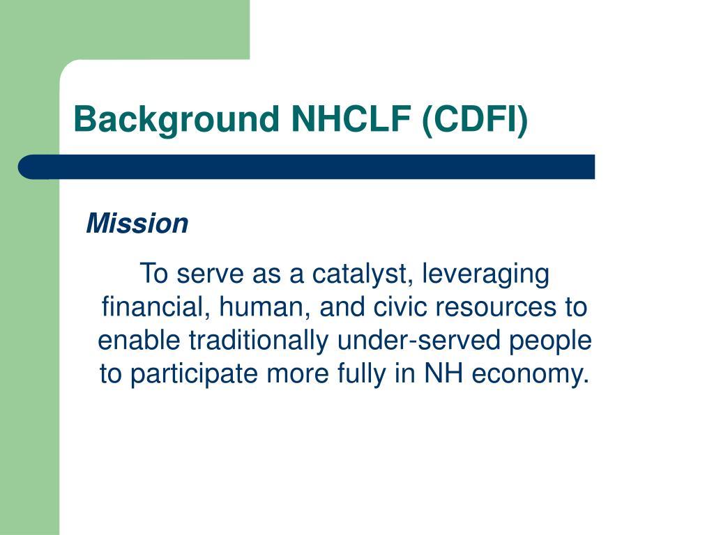 Background NHCLF (CDFI)