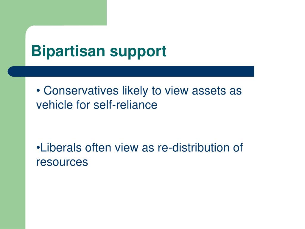 Bipartisan support