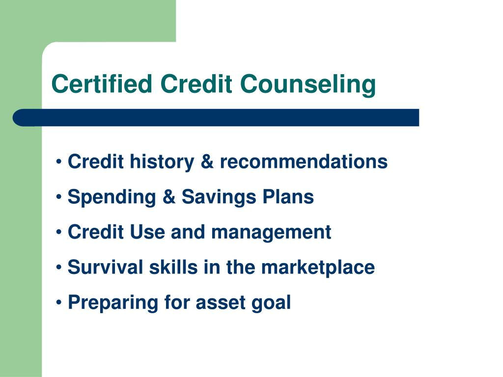 Certified Credit Counseling