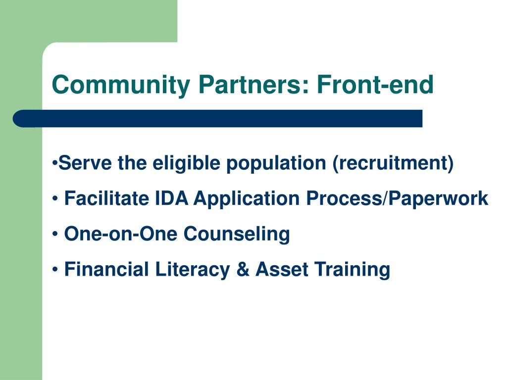 Community Partners: Front-end