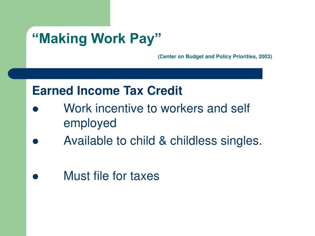 """Making Work Pay"""