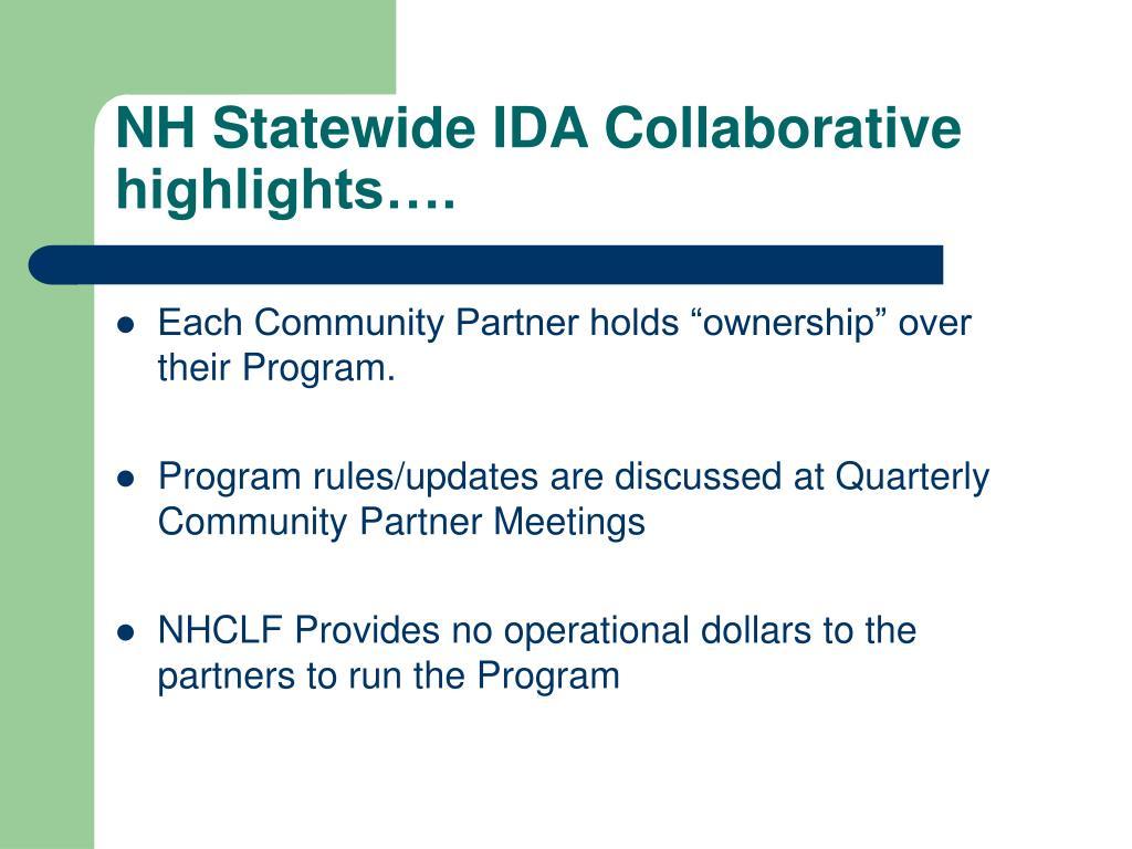 """Each Community Partner holds """"ownership"""" over their Program."""