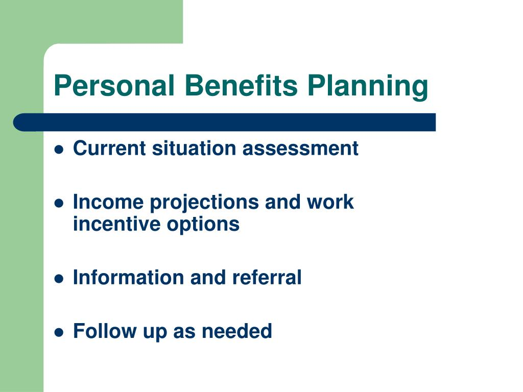 Personal Benefits Planning
