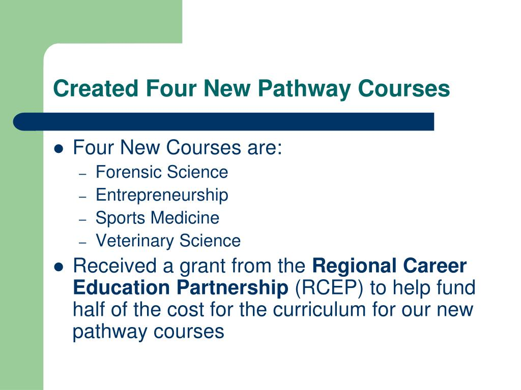 Created Four New Pathway Courses