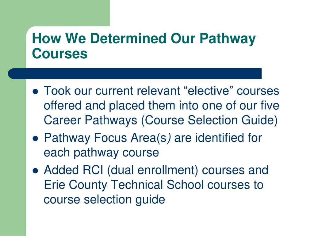 How We Determined Our Pathway Courses