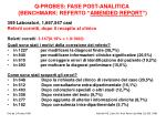 q probes fase post analitica benchmark referto amended report