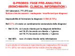 q probes fase pre analitica benchmark clinical information