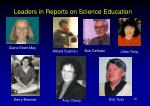 leaders in reports on science education