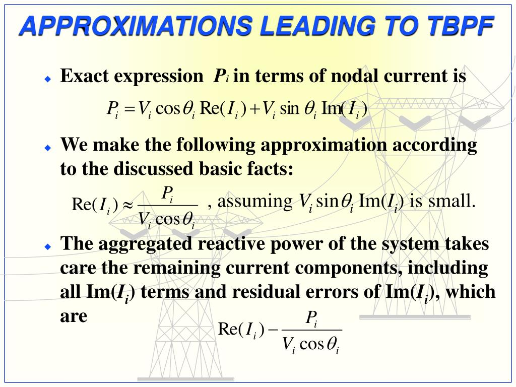 APPROXIMATIONS LEADING TO TBPF