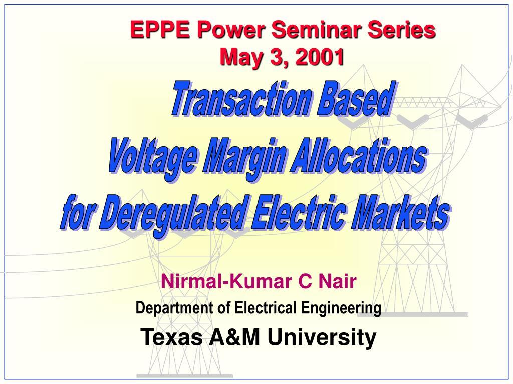 EPPE Power Seminar Series