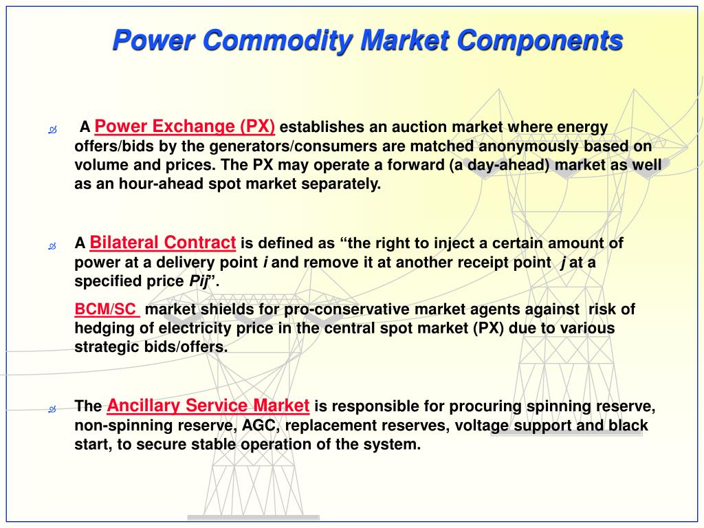 Power Commodity Market Components