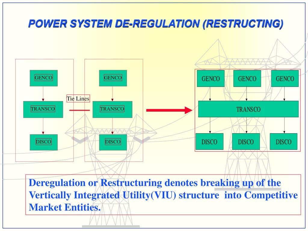 POWER SYSTEM DE-REGULATION (RESTRUCTING)