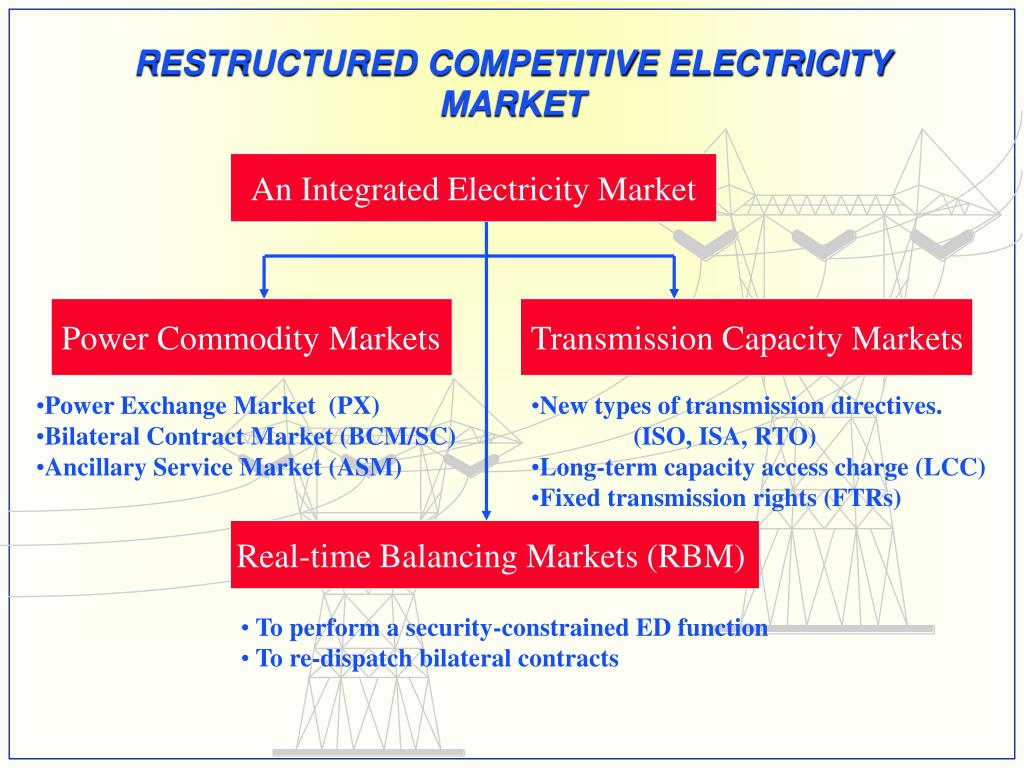 RESTRUCTURED COMPETITIVE ELECTRICITY MARKET