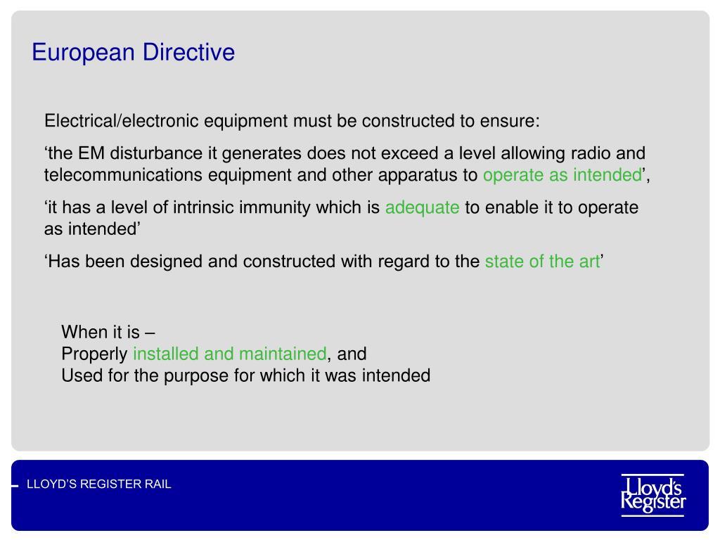 European Directive