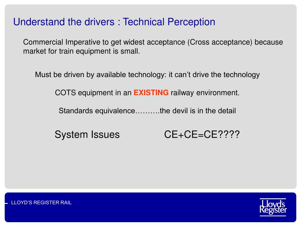 Understand the drivers : Technical Perception
