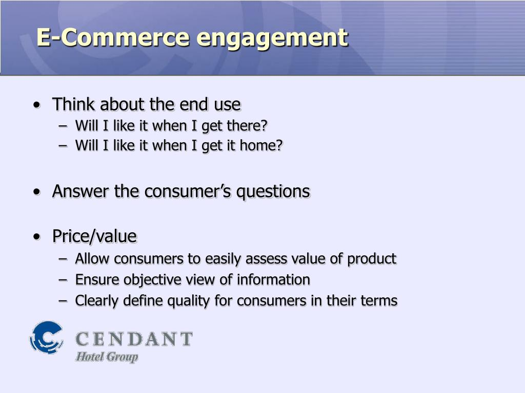 E-Commerce engagement