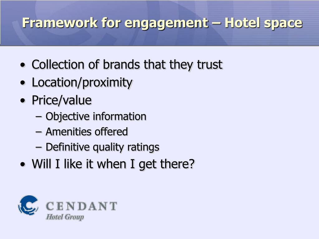 Framework for engagement – Hotel space