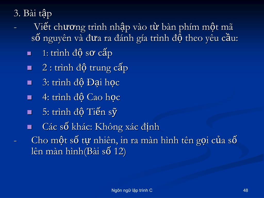 3. Bài tập