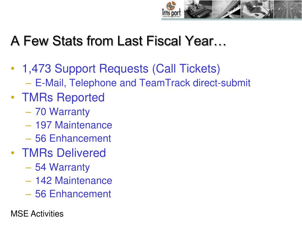 A Few Stats from Last Fiscal Year…
