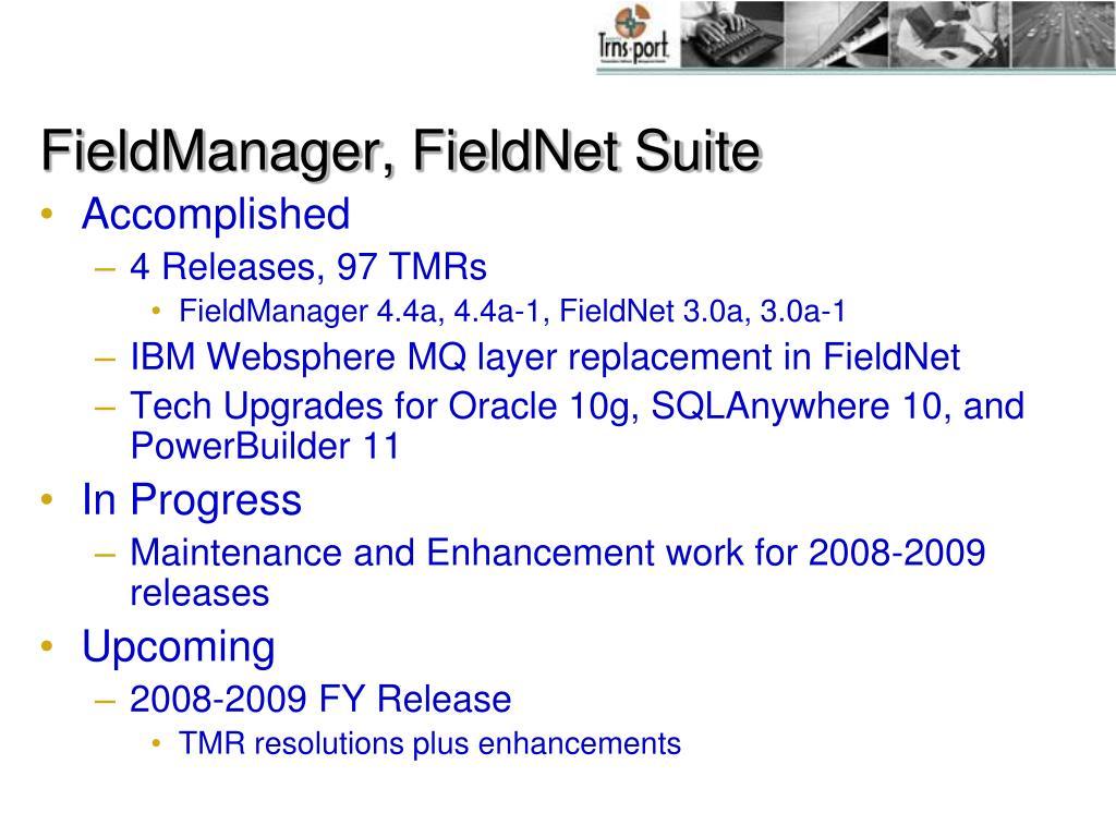 FieldManager, FieldNet Suite