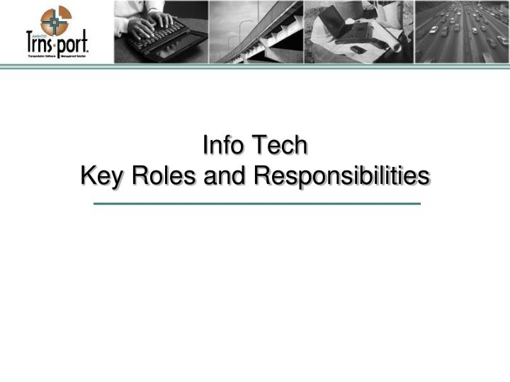 Info tech key roles and responsibilities