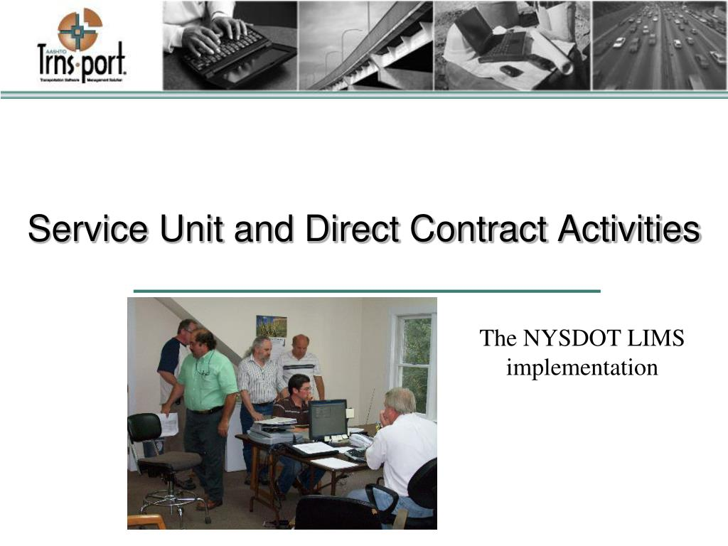 Service Unit and Direct Contract Activities