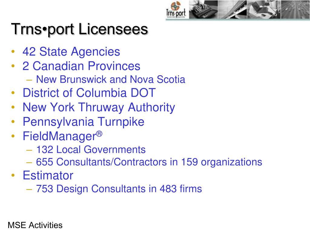 Trns•port Licensees