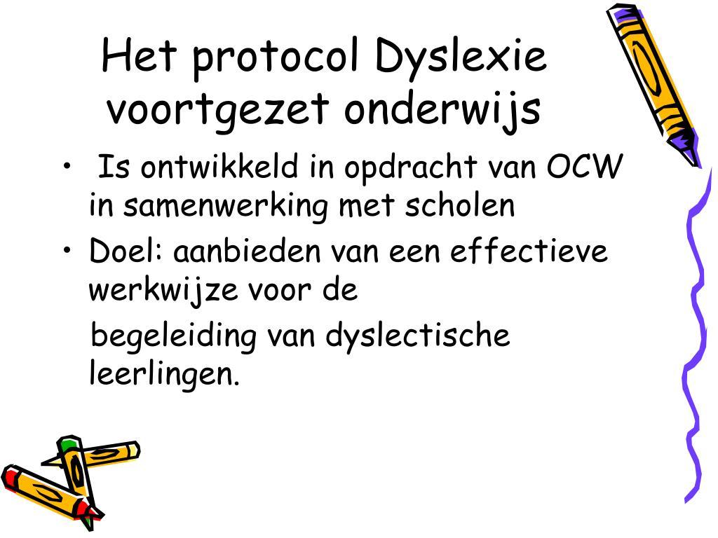 Het protocol Dyslexie