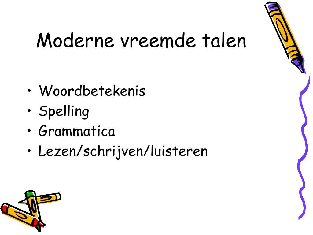 Moderne vreemde talen