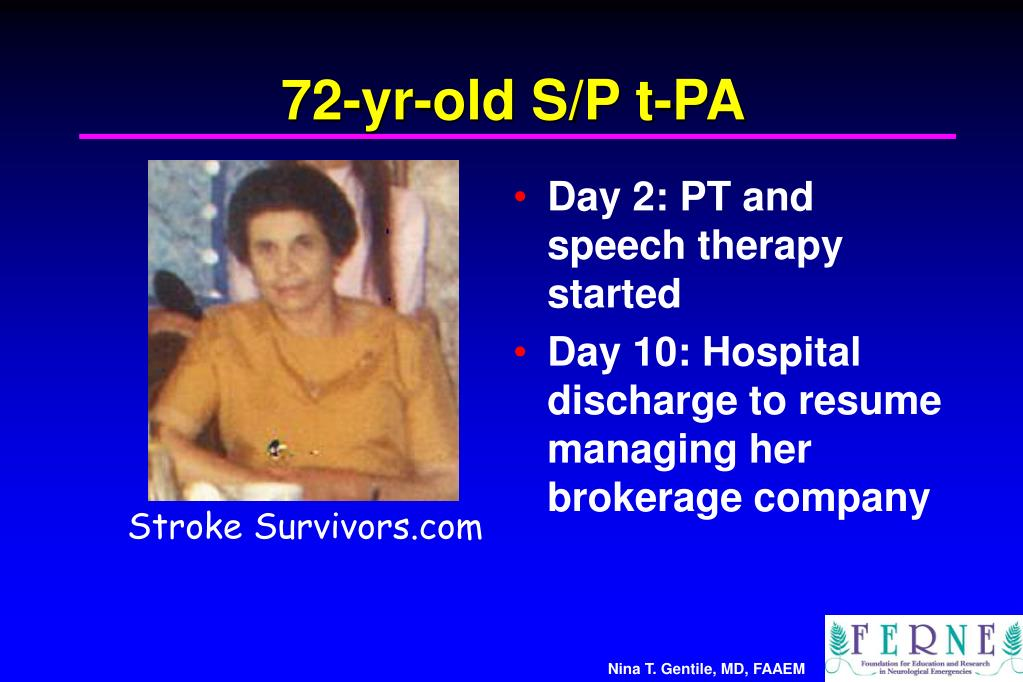 72-yr-old S/P t-PA