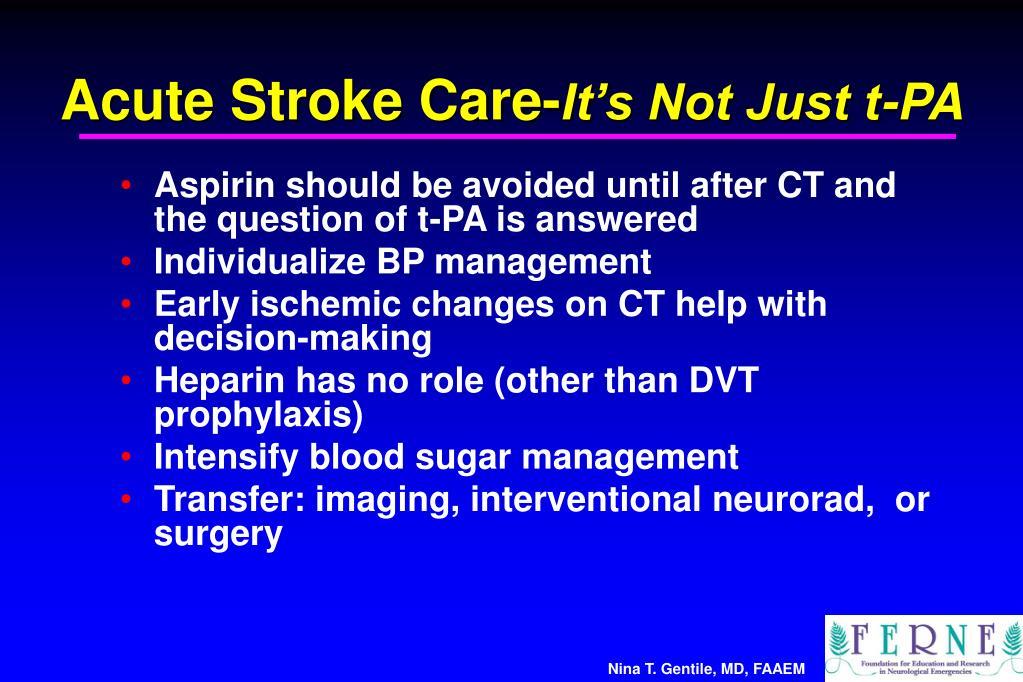 Acute Stroke Care-