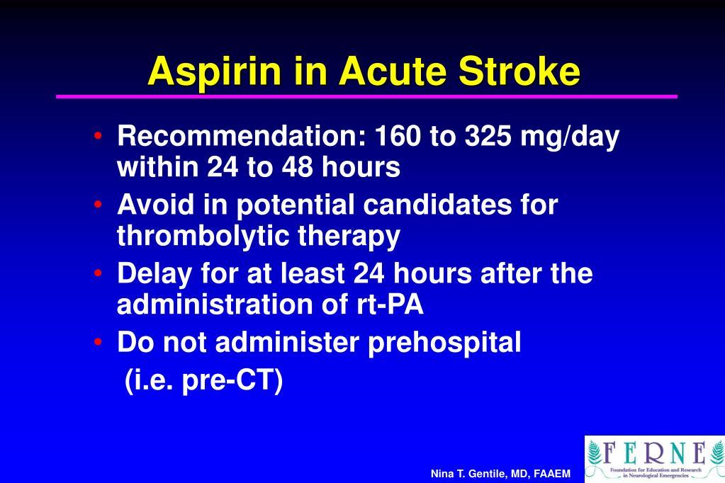 Aspirin in Acute Stroke