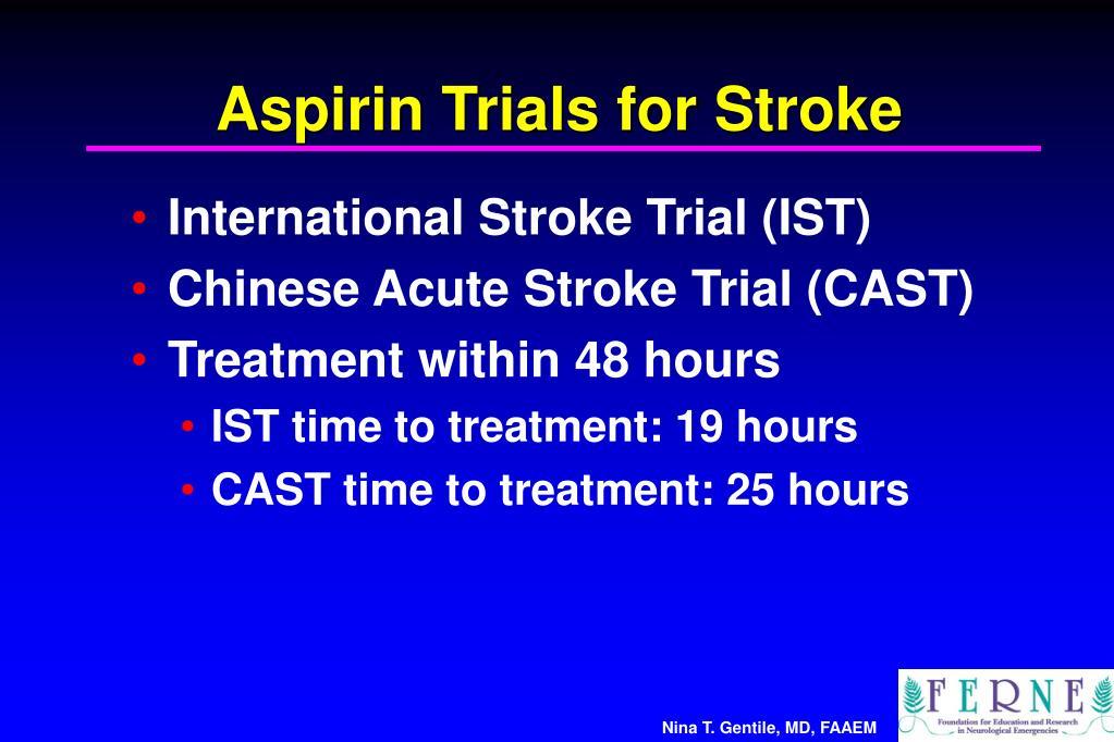 Aspirin Trials for Stroke