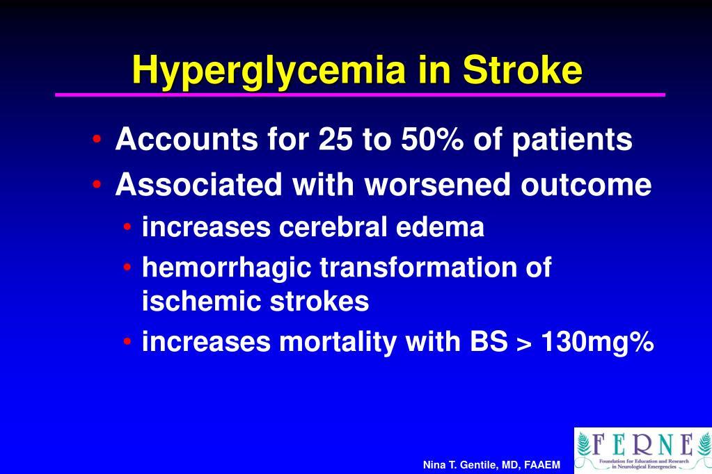 Hyperglycemia in Stroke