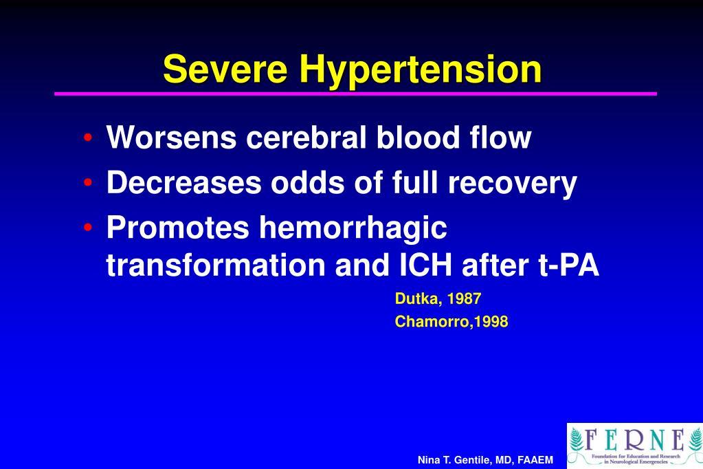 Severe Hypertension