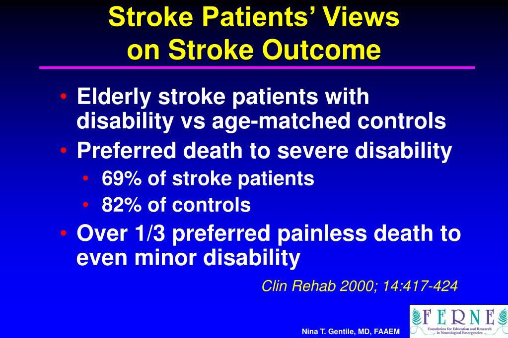 Stroke Patients' Views