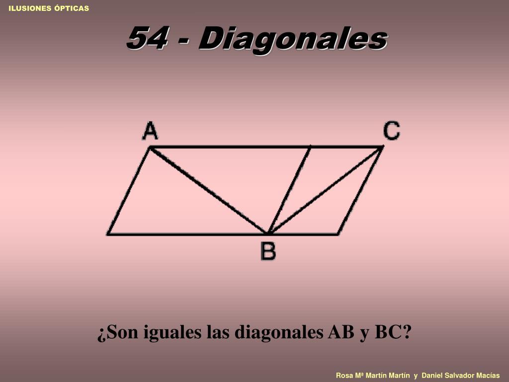 54 - Diagonales