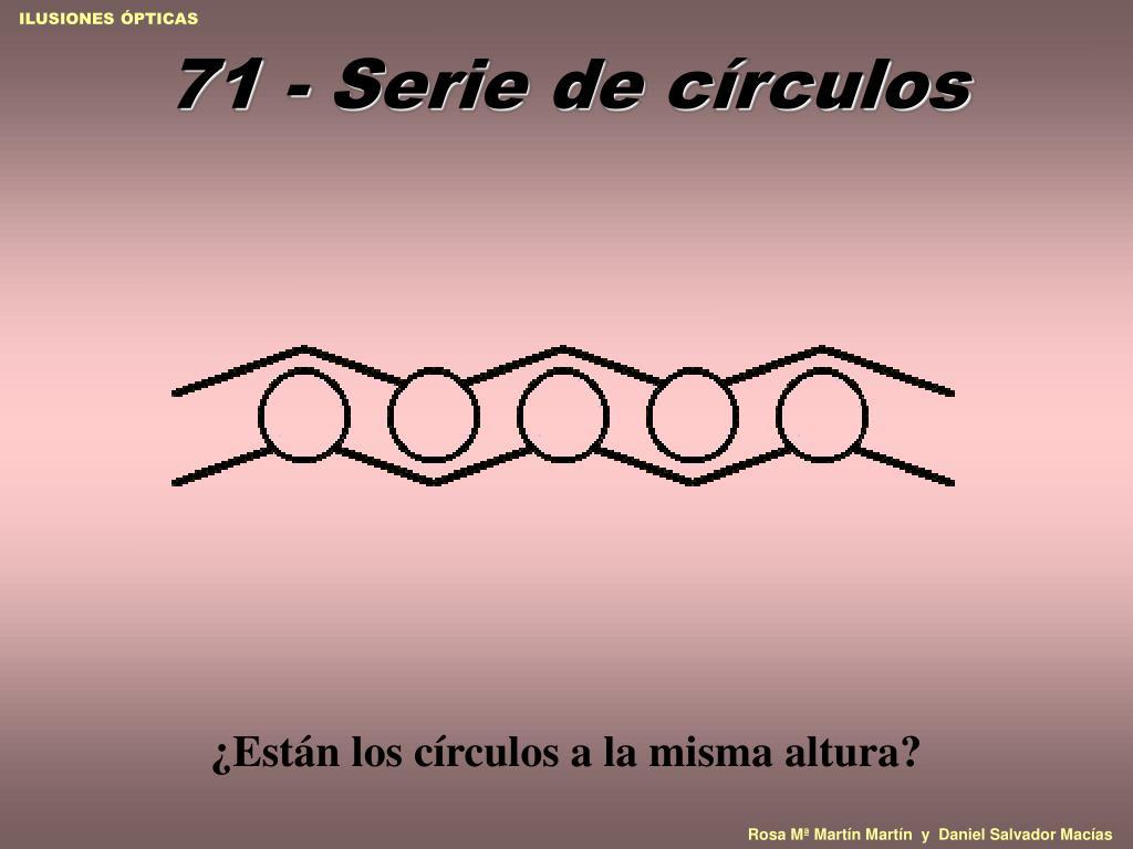 71 - Serie de círculos