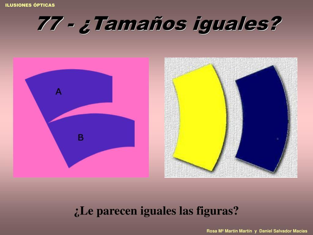 77 - ¿Tamaños iguales?
