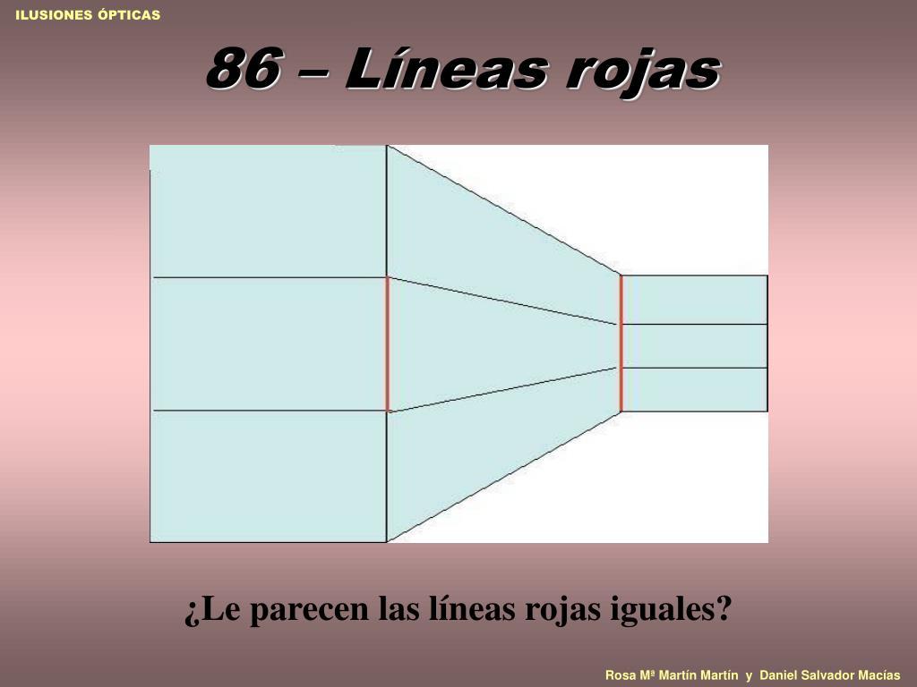 86 – Líneas rojas